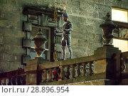 Купить «Film crew and stuntmen prepare for the filming of the upcoming movie 'Avengers: Infinity War' on the Royal Mile in Edinburgh Featuring: Stuntman Where...», фото № 28896954, снято 31 марта 2017 г. (c) age Fotostock / Фотобанк Лори