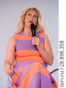 Купить «Barbara Schoeneberger during a beauty talk at the Beauty Fair at Duesseldorf Messe. Featuring: Barbara Schoeneberger Where: Duesseldorf, Germany When: 02 Apr 2017 Credit: WENN.com», фото № 28898358, снято 2 апреля 2017 г. (c) age Fotostock / Фотобанк Лори