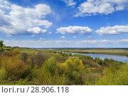 Купить «View of the Oka river, Russia», фото № 28906118, снято 4 мая 2016 г. (c) Boris Breytman / Фотобанк Лори