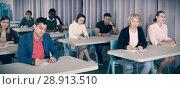 Купить «Students at extension courses», фото № 28913510, снято 8 мая 2018 г. (c) Яков Филимонов / Фотобанк Лори