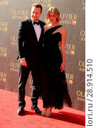 Купить «Rafe Spall and Elize du Toit attending the 2017 Olivier Awards, at the Royal Albert Hall in London. Featuring: Rafe Spall, Elize du Toit Where: London...», фото № 28914510, снято 9 апреля 2017 г. (c) age Fotostock / Фотобанк Лори