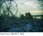 Купить «Apocalypse city landscape.», фото № 28917102, снято 12 ноября 2019 г. (c) Виктор Застольский / Фотобанк Лори