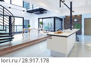 Купить «Luxury modern loft», фото № 28917178, снято 15 августа 2018 г. (c) Виктор Застольский / Фотобанк Лори