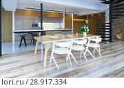 Купить «Luxury modern loft», фото № 28917334, снято 15 августа 2018 г. (c) Виктор Застольский / Фотобанк Лори