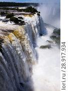 Купить «Waterfall Cataratas del Iguazu on Iguazu River, Brazil», фото № 28917934, снято 17 февраля 2017 г. (c) Яков Филимонов / Фотобанк Лори
