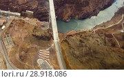Купить «mike callaghan-pat tillman bridge, grand canyon», видеоролик № 28918086, снято 30 июля 2018 г. (c) Syda Productions / Фотобанк Лори