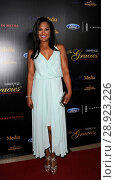 Laila Ali at arrivals for Alliance for Women In Media Foundation (AWMF) 40th Anniversary Gracies Awards, The Beverly Hilton Hotel, Beverly Hills, CA May... Редакционное фото, фотограф Elizabeth Goodenough/Everett Collection / age Fotostock / Фотобанк Лори