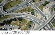 Купить «Image of car interchange of Barcelona in the Spain.», видеоролик № 28936138, снято 12 июня 2018 г. (c) Яков Филимонов / Фотобанк Лори