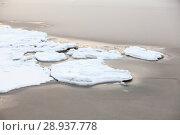 Купить «Замерзание пресной воды в морском заливе, крупный план», фото № 28937778, снято 21 января 2018 г. (c) Кекяляйнен Андрей / Фотобанк Лори