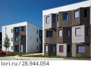 Купить «Berlin, Germany, facade of the student village Adlershof», фото № 28944054, снято 27 сентября 2016 г. (c) Caro Photoagency / Фотобанк Лори