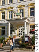 Sassnitz, Germany, Parkhotel del Mar. (2007 год). Редакционное фото, агентство Caro Photoagency / Фотобанк Лори