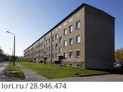 Berlin, Germany, multi-family house in the Schwanebecker Chaussee in Berlin-Buch (2016 год). Редакционное фото, агентство Caro Photoagency / Фотобанк Лори