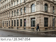Купить «Berlin, Germany, Former US Embassy in the Neustaedtische Kirchstrasse corner of Mittelstrasse Berlin-Mitte», фото № 28947054, снято 1 октября 2016 г. (c) Caro Photoagency / Фотобанк Лори