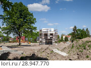 Купить «Berlin, Germany, new building Detached housing estate Gartenstadt Karlshorst», фото № 28947770, снято 21 мая 2017 г. (c) Caro Photoagency / Фотобанк Лори