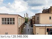 Купить «Berlin, Germany, Spreehoefe in the Wilhelminenhofstrasse in Berlin-Oberschoeneweide», фото № 28948006, снято 15 июля 2017 г. (c) Caro Photoagency / Фотобанк Лори