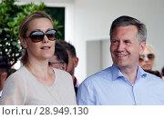 Купить «Hanover, Lower Saxony, Christian and Bettina Wulff in portrait», фото № 28949130, снято 5 июня 2017 г. (c) Caro Photoagency / Фотобанк Лори