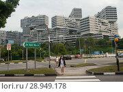 Купить «Singapore, Republic of Singapore, The Interlace», фото № 28949178, снято 14 декабря 2017 г. (c) Caro Photoagency / Фотобанк Лори