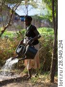 Купить «Kakuma, Kenya - Gardening in Kakuma refugee camp, managed and funded by GIZ / UNHCR.», фото № 28949294, снято 31 августа 2015 г. (c) Caro Photoagency / Фотобанк Лори