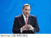 Купить «Berlin, Germany - The Prime Minister of the Kingdom of Sweden, Stefan Loefven.», фото № 28949662, снято 16 марта 2018 г. (c) Caro Photoagency / Фотобанк Лори