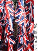 Купить «London, United Kingdom, National flags of Great Britain», фото № 28951702, снято 24 мая 2017 г. (c) Caro Photoagency / Фотобанк Лори