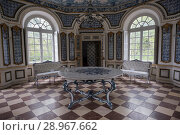 Купить «Interior of the Nymphenburg Palace is Baroque style located in the city of Munich, Germany. The palace was commissioned by the couple composed by Ferdinand...», фото № 28967662, снято 16 апреля 2017 г. (c) age Fotostock / Фотобанк Лори