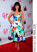 Carla Gugino (wearing a Novis dress) at arrivals for GIGI The Musical Opening Night Revival on Broadway, Neil Simon Theatre, New York, NY April 8, 2015. Photo By: Gregorio T. Binuya/Everett Collection. Редакционное фото, фотограф Gregorio T. Binuya/Everett Collection / age Fotostock / Фотобанк Лори