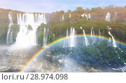 Купить «Rainbow over Cataratas del Iguazu waterfall, Brazil», фото № 28974098, снято 17 февраля 2017 г. (c) Яков Филимонов / Фотобанк Лори
