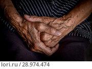 Hands of an old man. Стоковое фото, фотограф Nunik Varderesyan / Фотобанк Лори
