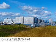 Complex of mine buildings of a modern mining enterprise for the extraction of salt. Стоковое фото, фотограф Евгений Харитонов / Фотобанк Лори