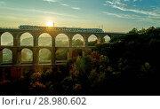 Купить «The Göltzsch Viaduct is the world's largest brick bridge, Vogtland, Saxony, Germany», фото № 28980602, снято 30 сентября 2017 г. (c) age Fotostock / Фотобанк Лори