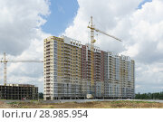 Строительство жилого комплекса на улице Западный обход в Краснодаре (2018 год). Стоковое фото, фотограф Наталья Гармашева / Фотобанк Лори