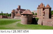 Купить «Image of medieval Malbork Castle in the Poland.», видеоролик № 28987654, снято 22 мая 2018 г. (c) Яков Филимонов / Фотобанк Лори