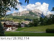 Scenic view of Cortina d'Ampezzo (2018 год). Стоковое фото, фотограф Юлия Кузнецова / Фотобанк Лори