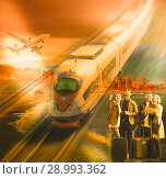 Купить «Traveling options for couples», фото № 28993362, снято 13 декабря 2019 г. (c) Яков Филимонов / Фотобанк Лори