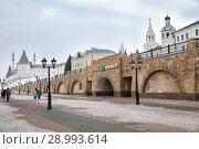 Купить «Станция метро Кремлевская, Казань», фото № 28993614, снято 3 января 2018 г. (c) Юлия Бабкина / Фотобанк Лори