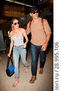 Купить «LeAnn Rimes with her husband Eddie Cibrian at Los Angeles International Airport (LAX) Featuring: LeAnn Rimes, Eddie Cibrian Where: Los Angeles, California...», фото № 28995106, снято 26 апреля 2017 г. (c) age Fotostock / Фотобанк Лори