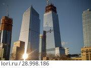 Купить «10 Hudson Yards, left, 30 Hudson Yards, right, and other Hudson Yards development in New York on Saturday, March 24, 2018.», фото № 28998186, снято 24 марта 2018 г. (c) age Fotostock / Фотобанк Лори