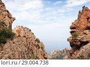 Купить «Landscape of Calanques de Piana. Corsica», фото № 29004738, снято 23 августа 2018 г. (c) EugeneSergeev / Фотобанк Лори