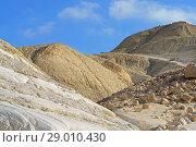 Wonderful views of Ein Avdat canyon and Zin Valley. Negev, desert and semidesert region of southern Israel (2018 год). Стоковое фото, фотограф Валерия Попова / Фотобанк Лори
