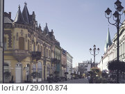 Купить «Street of Kaposvar, Hungary», фото № 29010874, снято 1 ноября 2017 г. (c) Яков Филимонов / Фотобанк Лори
