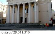 Купить «Drama Theater in Minsk, Belarus», видеоролик № 29011310, снято 7 июля 2017 г. (c) BestPhotoStudio / Фотобанк Лори