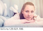 Купить «Woman feeling sad», фото № 29021186, снято 21 марта 2017 г. (c) Яков Филимонов / Фотобанк Лори