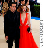 Купить «The Met Gala 2017 - Arrivals Featuring: Bobby Cannavale, Rose Byrne Where: New York, New York, United States When: 01 May 2017 Credit: WENN.com», фото № 29022018, снято 1 мая 2017 г. (c) age Fotostock / Фотобанк Лори