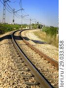 Купить «Old train track Valencia, Spain», фото № 29033858, снято 6 сентября 2016 г. (c) age Fotostock / Фотобанк Лори
