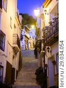 Купить «Street of the neighborhood of La Santa Cruz in Alicante, Valencia, Spain», фото № 29034054, снято 23 декабря 2016 г. (c) age Fotostock / Фотобанк Лори