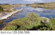 Купить «Norwegian fjord in sunny day, Averoy, Norway», видеоролик № 29036586, снято 1 сентября 2018 г. (c) Некрасов Андрей / Фотобанк Лори