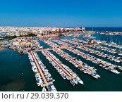 Купить «Torrevieja port, aerial view», фото № 29039370, снято 20 августа 2018 г. (c) Alexander Tihonovs / Фотобанк Лори