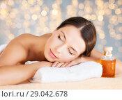 Купить «close up of beautiful woman having massage at spa», фото № 29042678, снято 25 июля 2013 г. (c) Syda Productions / Фотобанк Лори