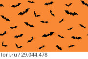 Купить «seamless pattern with halloween bats», фото № 29044478, снято 6 июля 2017 г. (c) Syda Productions / Фотобанк Лори
