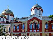 Купить «Novy Afonsky for men Monastery in Abkhazia», фото № 29048550, снято 3 июня 2018 г. (c) Володина Ольга / Фотобанк Лори